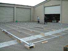 You have here galvanised steel basement and its flooring boards.