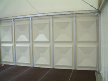 These are marquees with rigid panels on the walls perimeter.