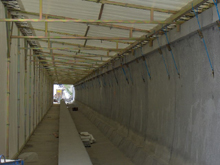 Here is an application of tarpaulin for an high speed railway