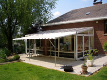 This Schreiber galvanised steel awning was manufactured for a private house.