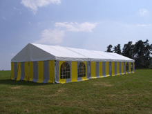 Here is an aluminium clearspan marquee manufactured by Schreiber