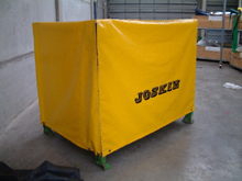 This tarpaulin was made to measure for a Joskin container