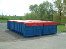 These are tarpaulins for containers