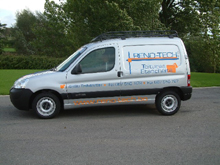 Here is a van with lettering