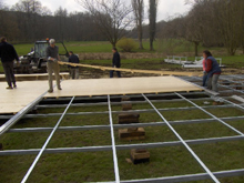 You can see here a wood flooring for marquees and party tents manufactured by our workshops.