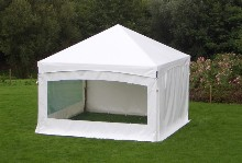 Here is a Schreiber party tent with pyramidal roof