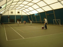 This Schreiber polygonal structure is used by a tennis court