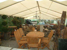 Here is an exposition tent used by Garden Forum shop in Herbestal