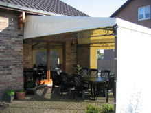 Here is an awning placed by a private individual