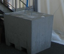 You have here a concrete block of 1200 kg (190 Stones)