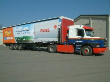 You can see her a Knuf semitrailer with sliding tarpaulin - This semitrailer has picture printing and is protective varnished for transport