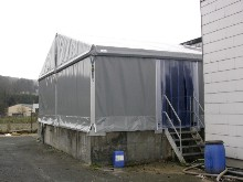 This Schreiber aluminium structure is used for protection to a purification station