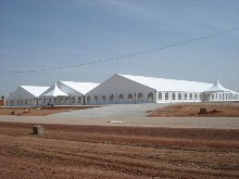 These 3 marquees are situated in the African desert