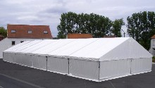 This aluminium marquee with kedar tracks has been manufactured for a local council
