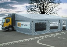 You can see here an awning which was realised for Renault Sport