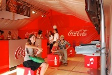 Marquee 10x10 m for Coca-Cola France.