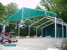 4m eave height marquee intended to shelter a helicopter