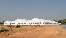 Clearspan marquees put up in Burkina Faso by our technical team.