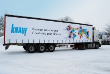 Curtains and lettering for Knauf